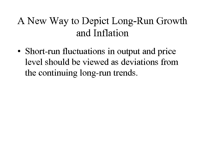 A New Way to Depict Long-Run Growth and Inflation • Short-run fluctuations in output