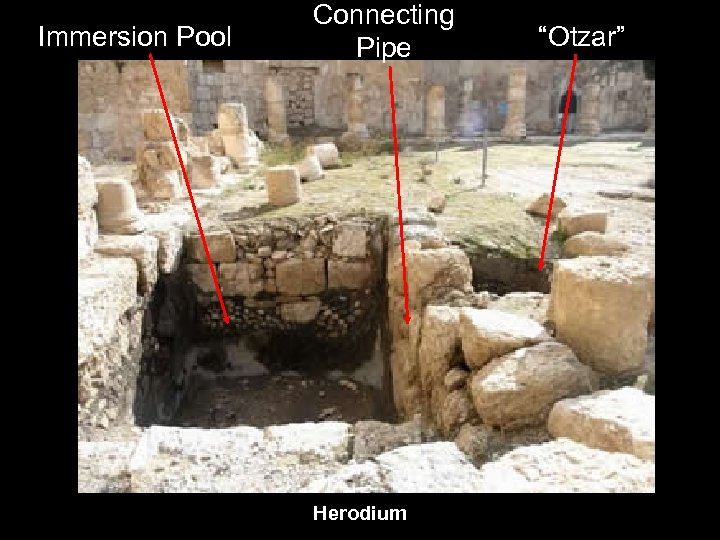 "Immersion Pool Connecting Pipe Herodium ""Otzar"""