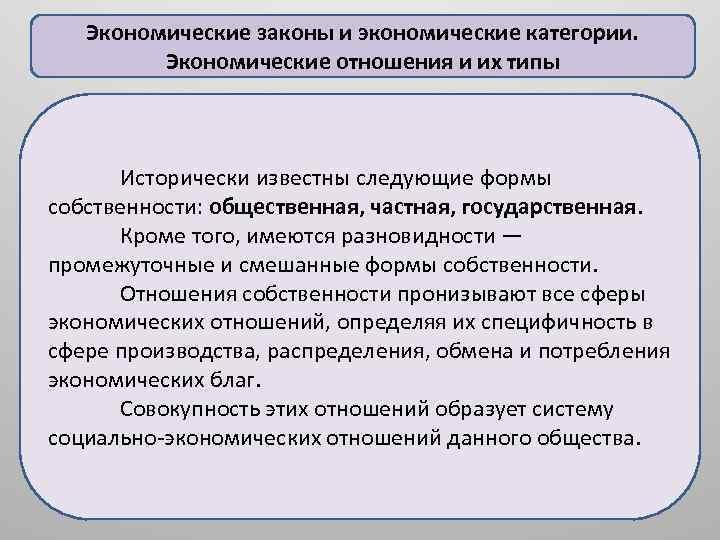 Экономические законы и экономические категории. Экономические отношения и их типы Исторически известны следующие формы