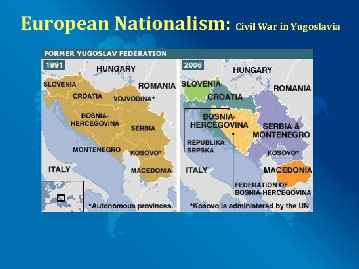 European Nationalism: Civil War in Yugoslavia