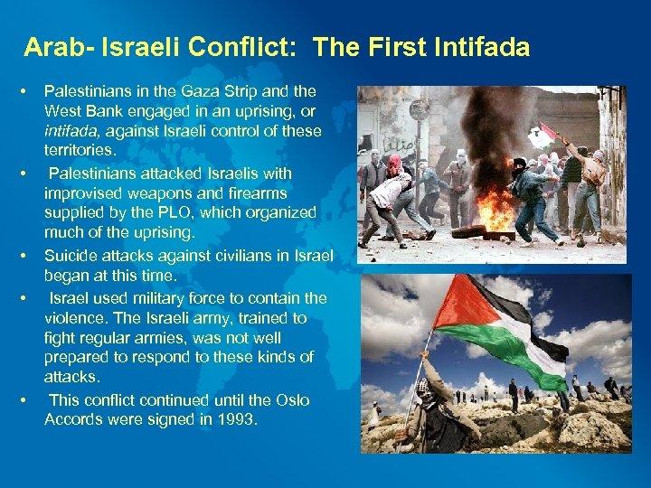 Arab- Israeli Conflict: The First Intifada • • • Palestinians in the Gaza Strip