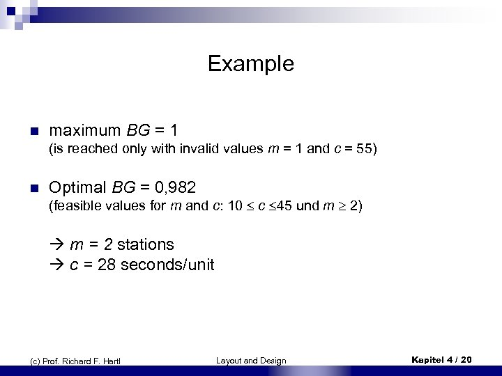 Examp. Ie n maximum BG = 1 (is reached only with invalid values m