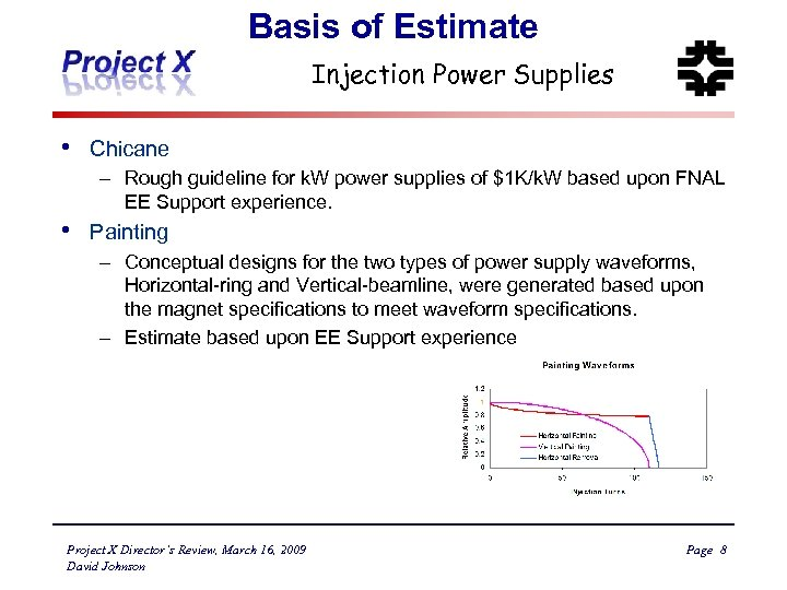 Basis of Estimate Injection Power Supplies • Chicane – Rough guideline for k. W