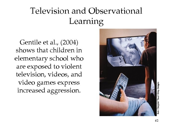 Gentile et al. , (2004) shows that children in elementary school who are exposed