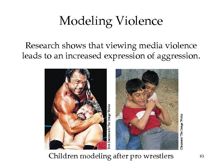 Modeling Violence Children modeling after pro wrestlers Glassman/ The Image Works Bob Daemmrich/ The