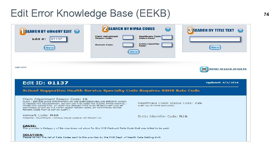 Edit Error Knowledge Base (EEKB) 74