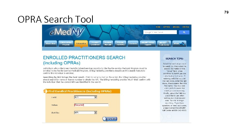 OPRA Search Tool 79