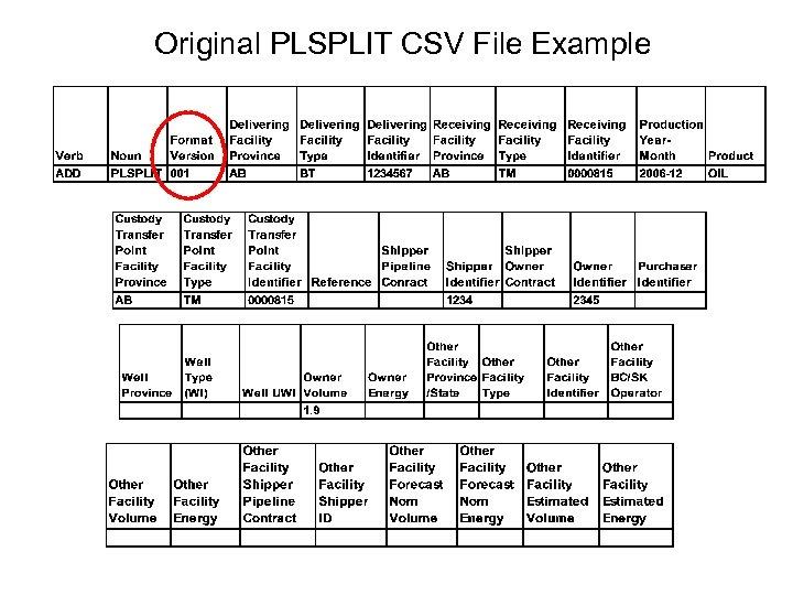 Original PLSPLIT CSV File Example