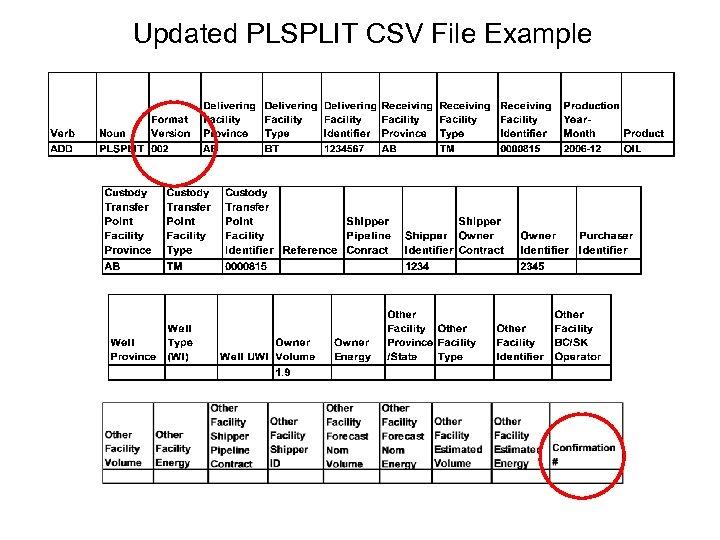 Updated PLSPLIT CSV File Example