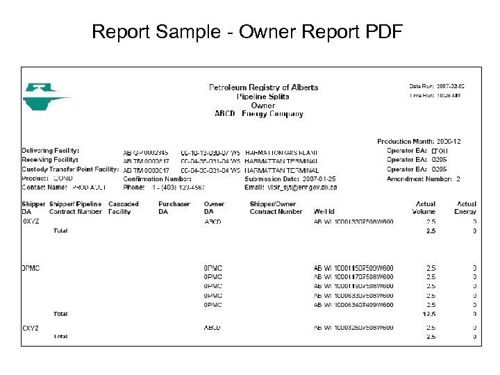 Report Sample - Owner Report PDF