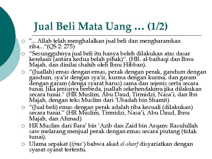Jual Beli Mata Uang … (1/2) ¡ ¡ ¡