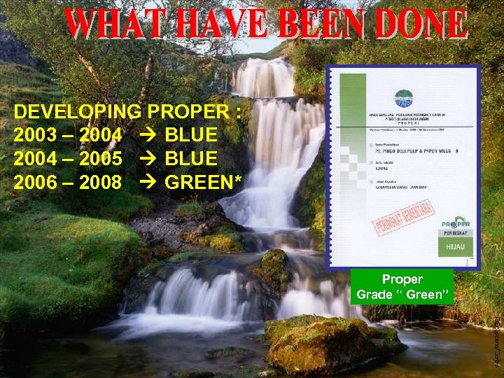 DEVELOPING PROPER : 2003 – 2004 BLUE 2004 – 2005 BLUE 2006 – 2008