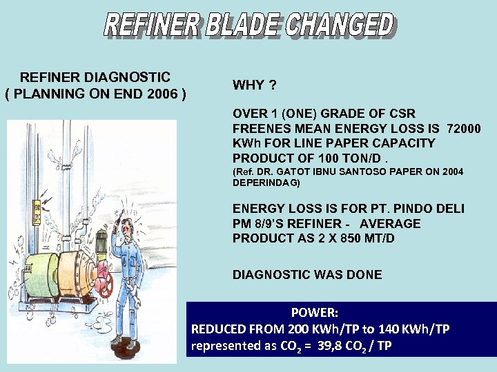 REFINER DIAGNOSTIC ( PLANNING ON END 2006 ) WHY ? OVER 1 (ONE) GRADE