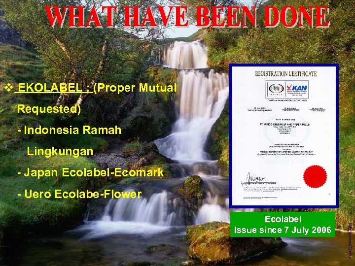 v EKOLABEL : (Proper Mutual Requested) - Indonesia Ramah Lingkungan - Japan Ecolabel-Ecomark -