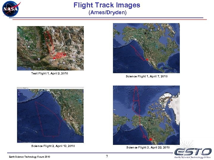 Flight Track Images (Ames/Dryden) Test Flight 1, April 2, 2010 Science Flight 1, April