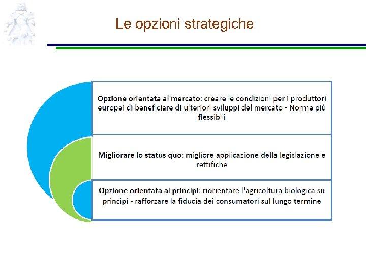 Le opzioni strategiche