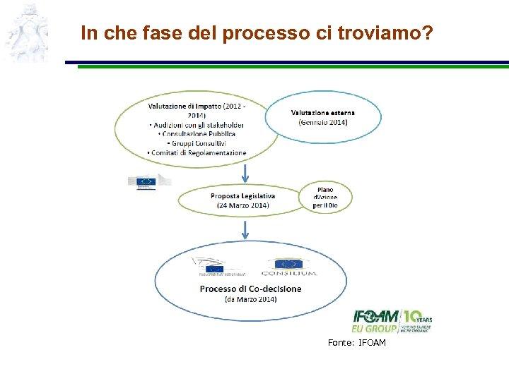 In che fase del processo ci troviamo? Fonte: IFOAM
