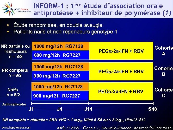 INFORM-1 : 1ère étude d'association orale antiprotéase + inhibiteur de polymérase (1) • Étude