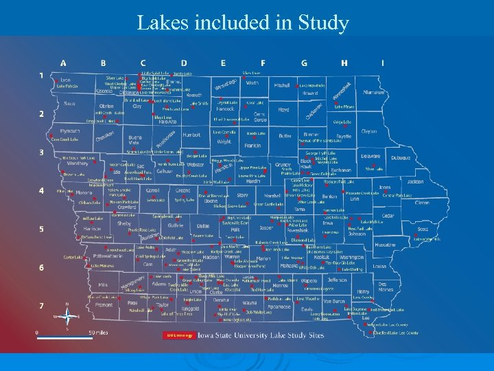 Lakes included in Study