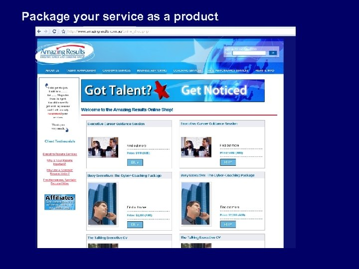 Package your service as a product