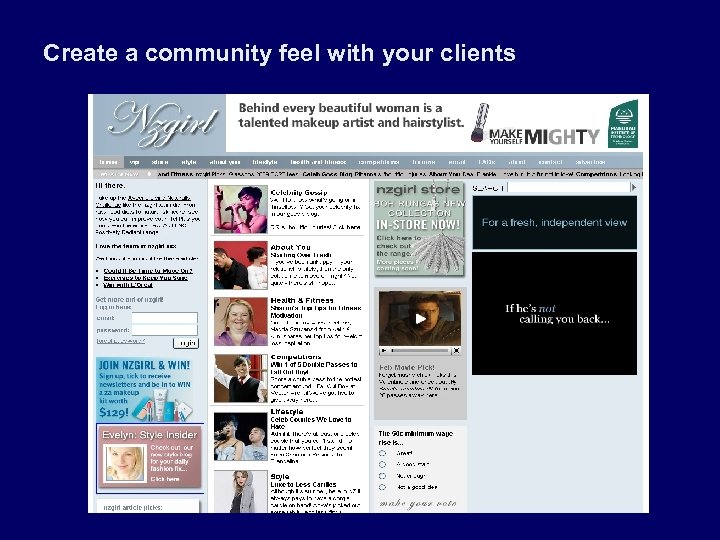 Create a community feel with your clients
