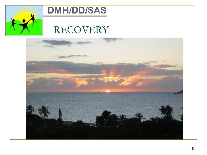 DMH/DD/SAS RECOVERY 27