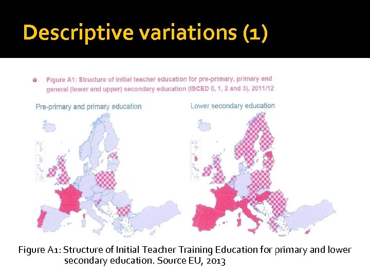 Descriptive variations (1) Figure A 1: Structure of Initial Teacher Training Education for primary