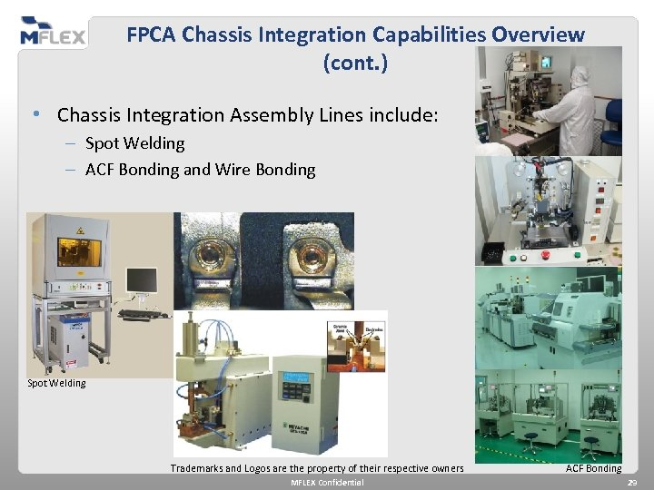 FPCA Chassis Integration Capabilities Overview (cont. ) • Chassis Integration Assembly Lines include: –