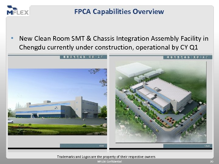 FPCA Capabilities Overview • New Clean Room SMT & Chassis Integration Assembly Facility in