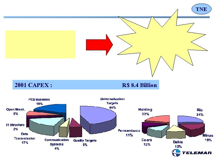 TNE 2001 CAPEX : R$ 8. 4 Billion