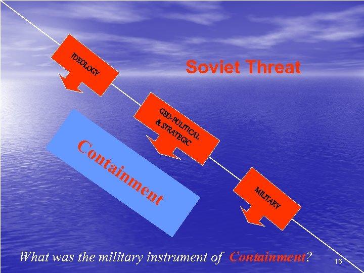 IDE OL Soviet Threat OG Co Y nt ai GE O & S -POL