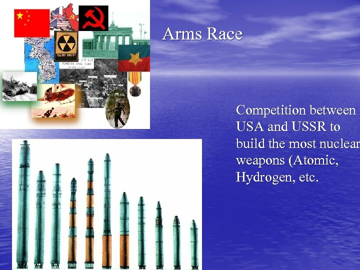 Arms Race Competition between USA and USSR to build the most nuclear weapons (Atomic,