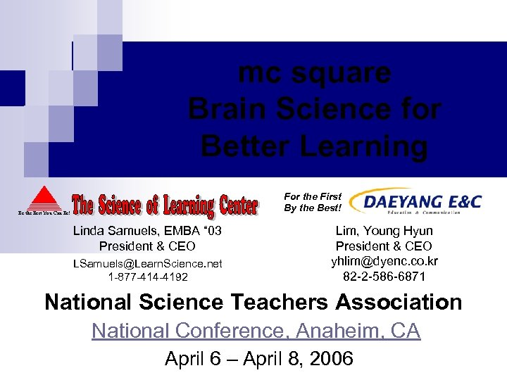 mc square Brain Science for Better Learning For the First By the Best! Be