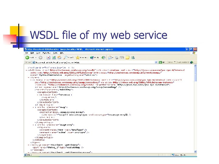 WSDL file of my web service