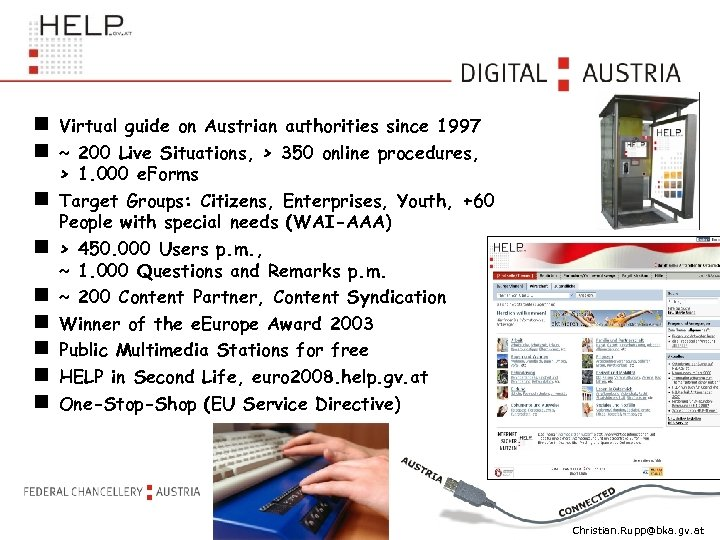 Virtual guide on Austrian authorities since 1997 ~ 200 Live Situations, > 350