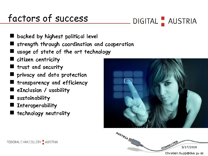 factors of success backed by highest political level strength through coordination and cooperation usage
