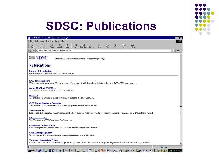 SDSC: Publications