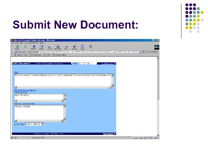 Submit New Document: