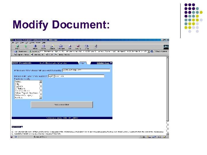 Modify Document: