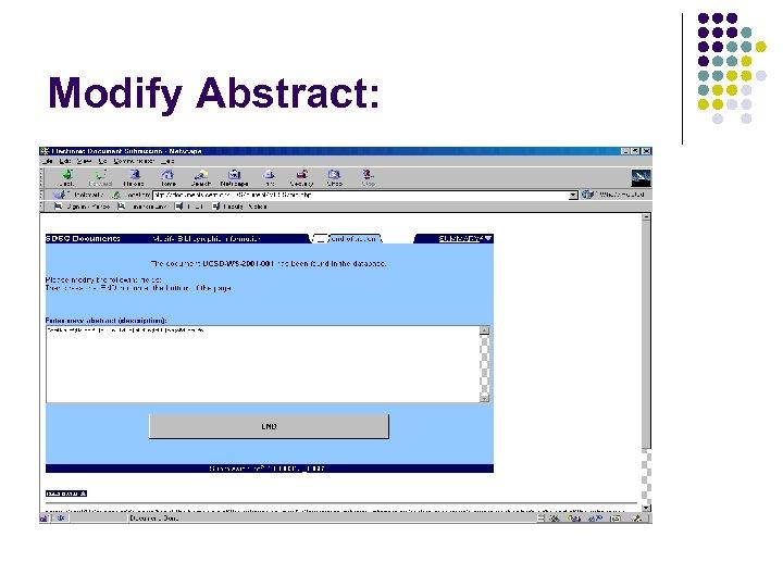 Modify Abstract: