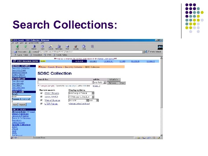 Search Collections: