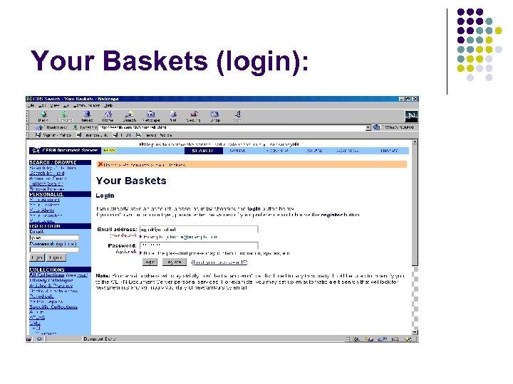 Your Baskets (login):