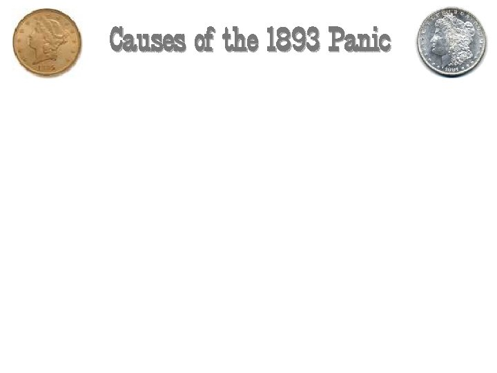 Causes of the 1893 Panic