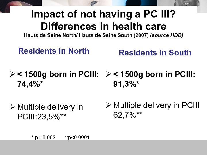 Impact of not having a PC III? Differences in health care Hauts de Seine