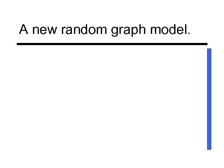 A new random graph model.
