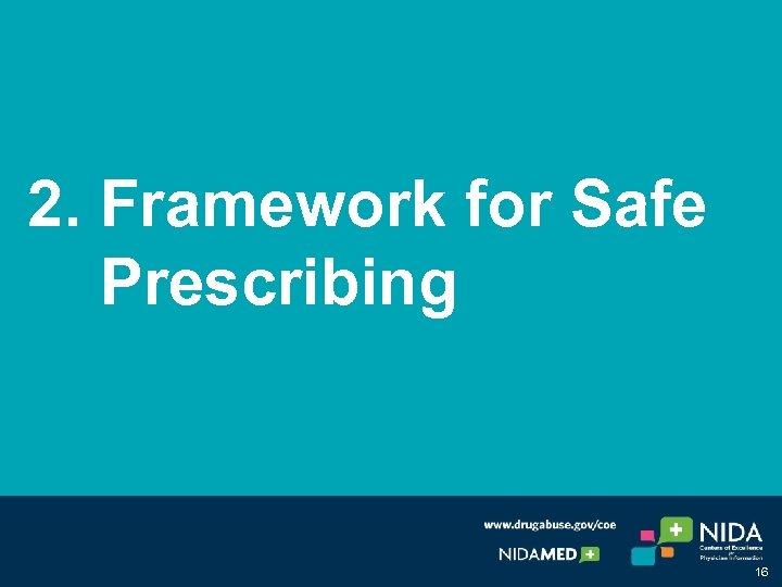 2. Framework for Safe Prescribing 16