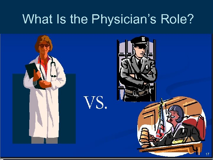 What Is the Physician's Role? 17