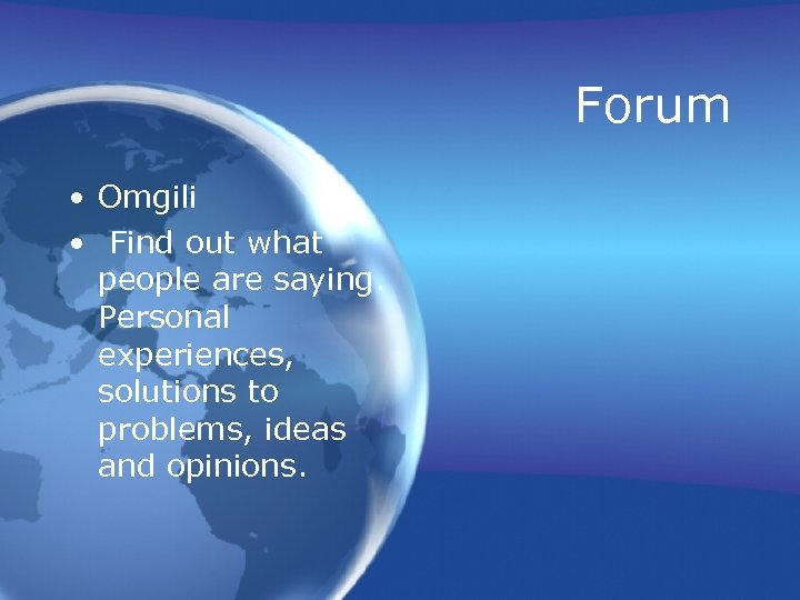 Forum • Omgili • Find out what people are saying. Personal experiences, solutions to