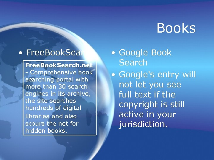 Books • Free. Book. Search. net - Comprehensive book searching portal with more than