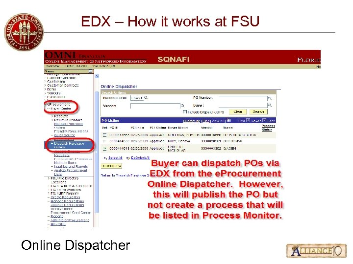 EDX – How it works at FSU Online Dispatcher